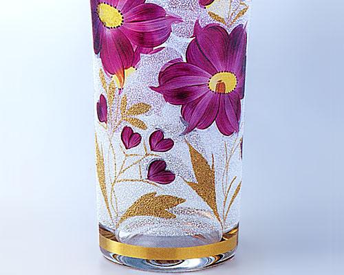 ボヘミアガラス カラーベース 花瓶 23064/8236/25.5