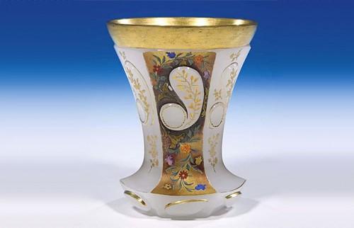 ボヘミアガラス ビーカーマグ アラバスター