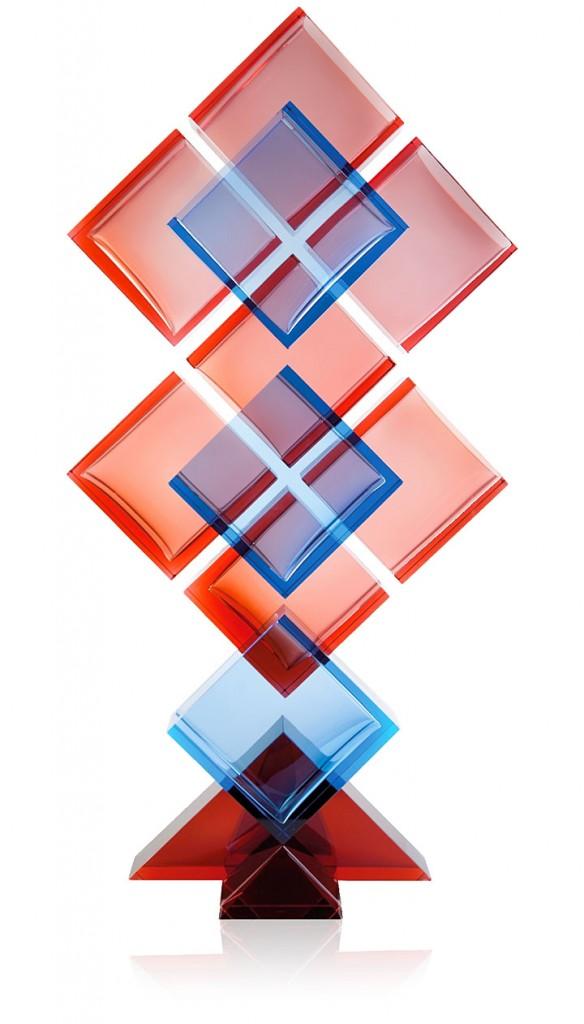 ボヘミアガラス モーゼル 花瓶 Etheric 3198