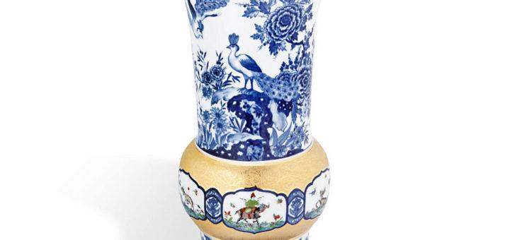 マイセン 花瓶 「レーヴェンフィンクによる想像上の人と動物」