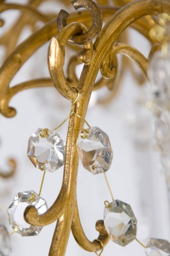 バカラ オルモルとクリスタルガラスのシャンデリア