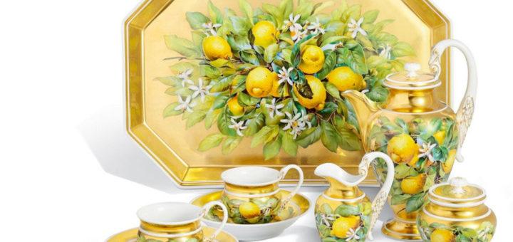 マイセン コーヒーデジュネセット「レモンとレモンの花」