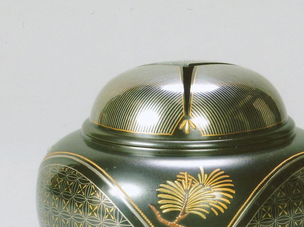 高岡銅器 鳥田稔弘 色絵象嵌香炉 「松竹梅」