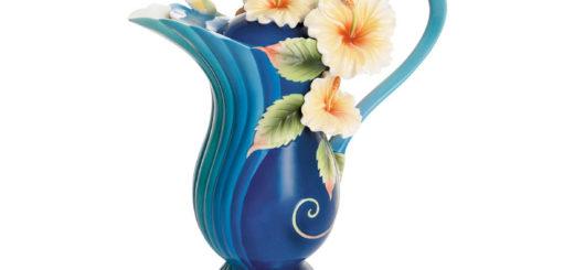 フランツ・コレクション アイランドハイビスカス ブルー ティーポット ( Teapot Franz porcelain Collection Hibiscus blue )