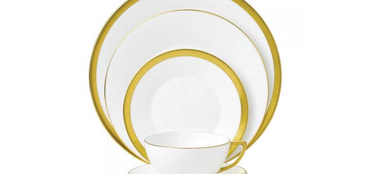 ウェッジウッド ジャスパー・コンラン ゴールド テーブルセッティング 5点セット ( Wedgwood Jasper Conran Gold 5-Piece Place Setting Set )