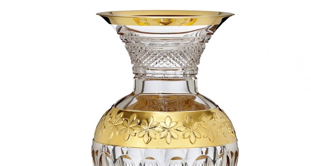 ウォーターフォード コリーン 60周年記念 ギルデッド 花瓶 ( Waterford Crystal Colleen 60th Anniversary Gilded Vase )
