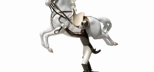 アウガルテン フィギュリン スペイン乗馬学校 カプリオーレ ( Augarten Figurine Capriole )