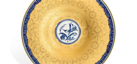 "マイセン 大皿 「ハチドリ」 ( MEISSEN® ""Hummingbird"" dish in cobalt blue )"