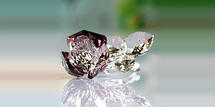 スワロフスキー フィギュリン ブロッサミング ローズ ( Swarovski Figurines Blossoming Rose )