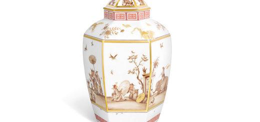 """マイセン 蓋付花瓶 「ヘロルトのシノワズリー」 ( MEISSEN® Lidded vase """"Chinoiseries after Höroldt"""" )"""