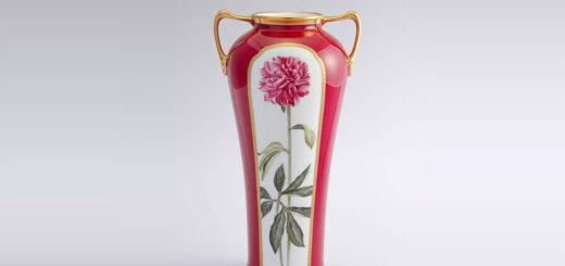 ノリタケ アートコレクション ダリア絵素描 花瓶