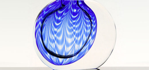 """ヴェネチアガラス アントニオ・ダ・ロス 花瓶 モーメント フェニキア ( Venetian Glass Antonio Da Ros Vase """"Momento-Fenicio"""" )"""