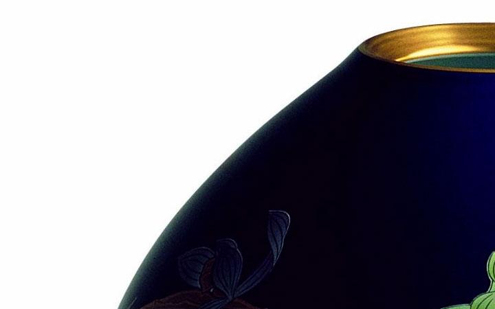 有田焼 香蘭社 花瓶 ルリ春蘭