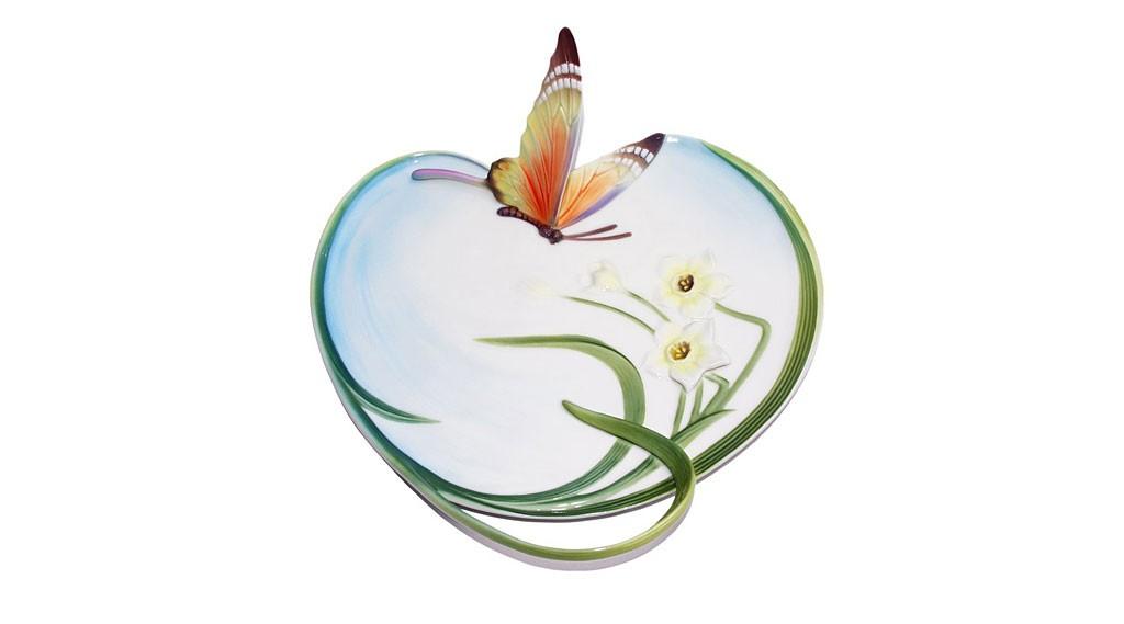 フランツコレクション バタフライ プレート ( Franz Porcelain Collection Papillon Butterfly Platter )