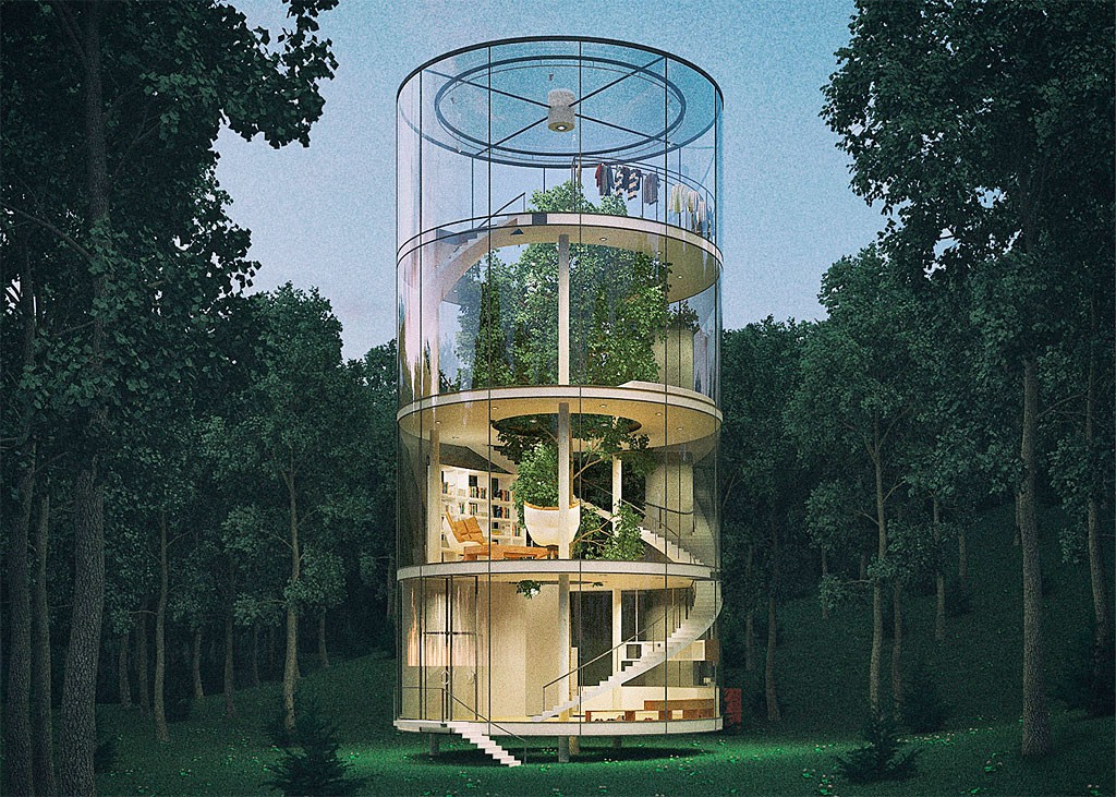 木と共生する「ツリーハウス」