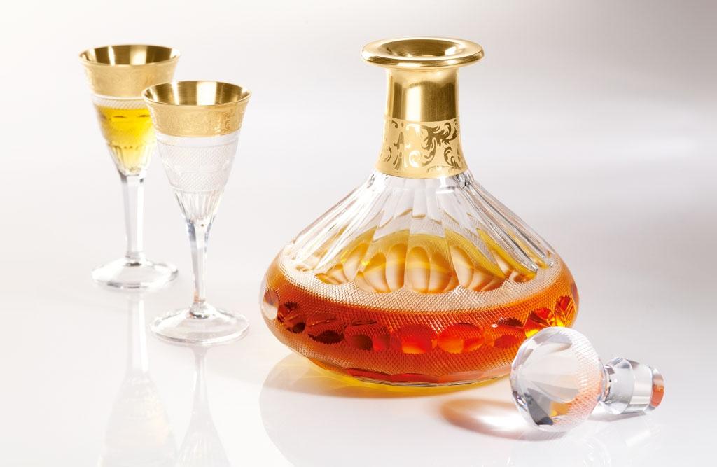 ボヘミアガラス モーゼル デカンタ OP クリア 2496/10160/500 ( Bohemian Glass Moser 2496/10160/500 Decanter Cut + OP Clear )