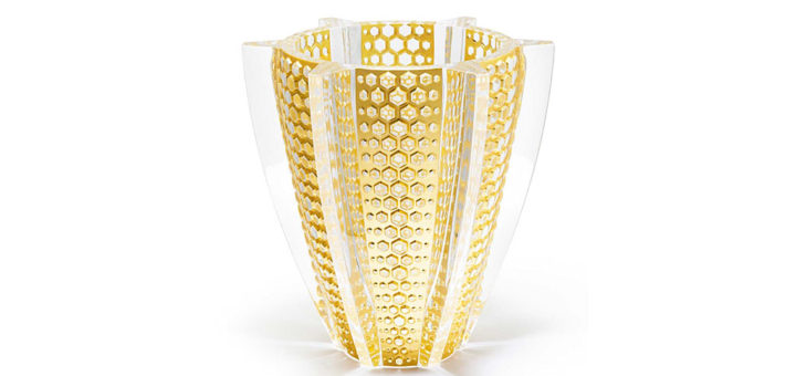ラリック 花瓶 プロヴァンス レヨン 限定版 ( Lalique Provence Rayons Limited Edition Vase With Gold Leaf )