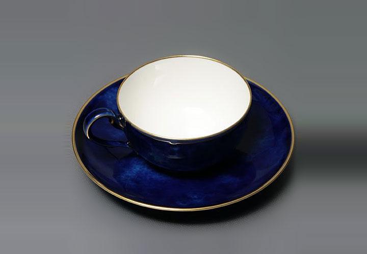 セーブル デミタスコーヒーカップ&ソーサー ペルシャ セーブルブルー雲模様 ( Sevres Demitasse Coffee Cup Ans Saucer Bleu Nuage De Sevres )