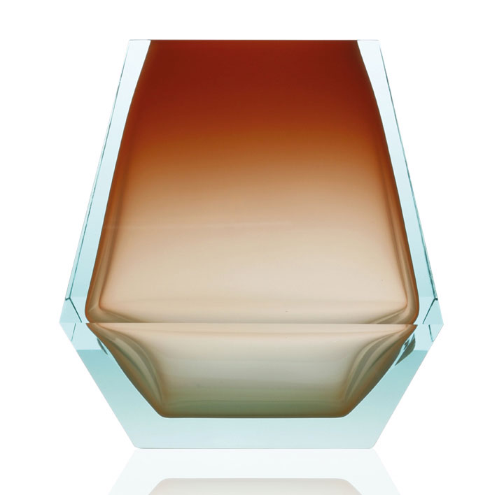 ボヘミアガラス モーゼル 花瓶 シティ 3248 - 3253 ( Bohemian Glass Moser Vase City 3248 - 3253, hand cut underlay collection )