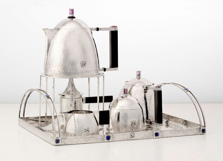 ヨーゼフ・ホフマン 銀製 ティーセット ( Josef Hoffmann Silver Tea set 9 pieces )