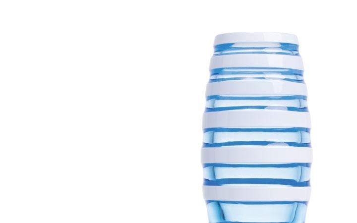 ボヘミアガラス モーゼル 花瓶 マラカス 3347 ( Bohemian Glass Moser Hand Cut Vase Maraca 3347 )