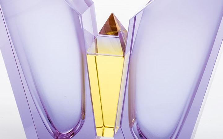 ボヘミアガラス モーゼル 花瓶 エアー 2919 ( Bohemian Glass Moser Hand Cut Vase Air 2919 )