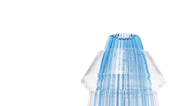 ボヘミアガラス モーゼル 花瓶 クリサリス 3341 ( Bohemian Glass Moser Hand Cut Vase Chrysalis 3341 )