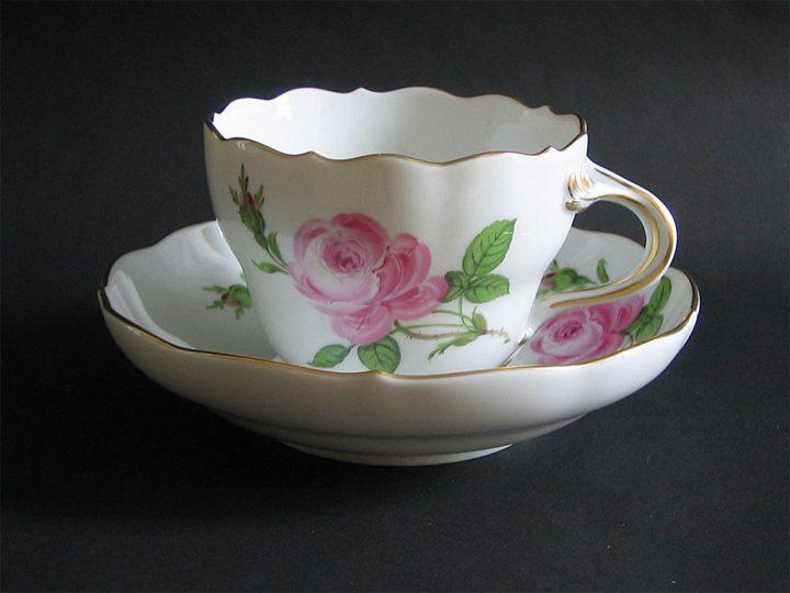 マイセン カップ&ソーサー ピンクローズ ( Meissen Cup & Saucer Pink Rose )