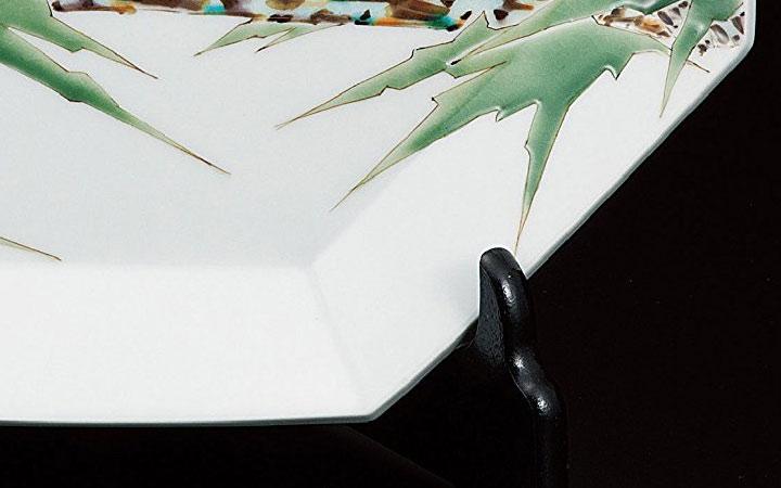九谷焼 山岸大成 10号飾皿 山蝉