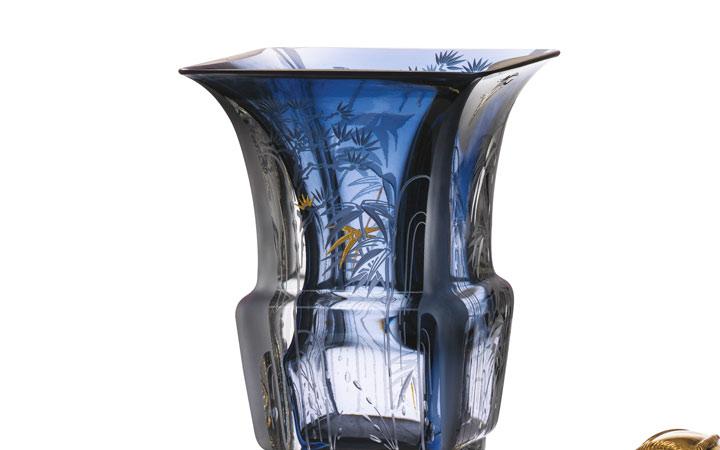 バカラ 花瓶ホルダー メモワール・ド・バカラ 象 ( Baccarat Mémoire Elephant Vase Holder )