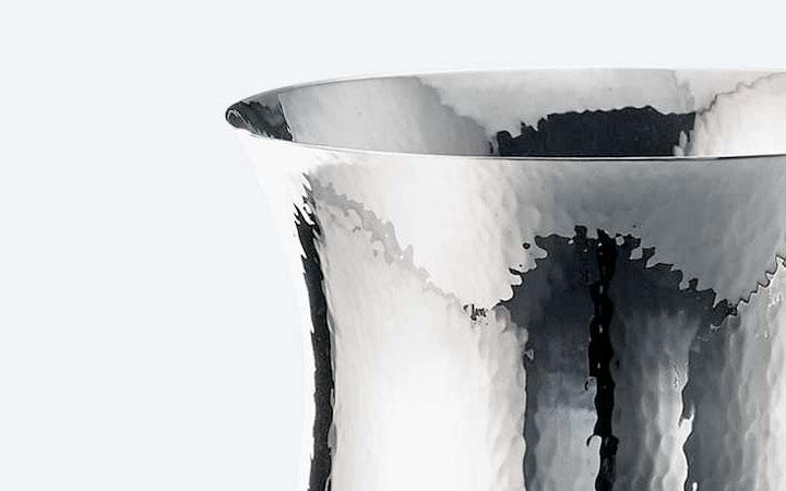 ブチェラッティ 銀製 花瓶 キャビア ( Buccellati Silver Caviar Medium Vase )