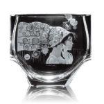 ボヘミアガラス モーゼル 花瓶 エマ 2733
