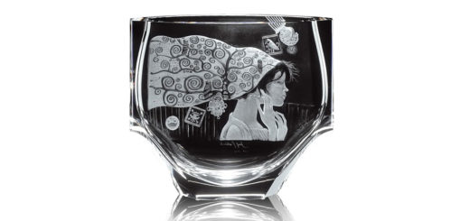 ボヘミアガラス モーゼル 花瓶 エマ 2733 ( Bohemian Glass Moser Emma 2733, Hand Cut And Engraved Vase )