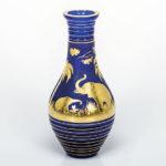ボヘミアガラス モーゼル 花瓶 アニマル 3362