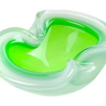 ヴェネチアガラス オパールのようなグリーンとホワイトの灰皿