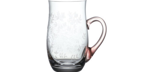 ボヘミアガラス ラスカ ビアマグ ロザリン ( Bohemian Glass Laska Beer Mug Rosalyn )