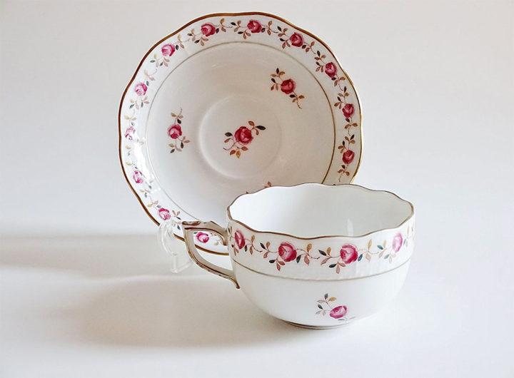 ヘレンド ローズガーランド ティーカップ&ソーサー ( Herend Rose Garland Tea Cup & Saucer )