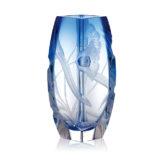 ボヘミアガラス モーゼル 花瓶 ブロッサム 2794 ( Bohemian Glass Moser Blossom 2794, Hand Cut and Engraved Underlay Vase )