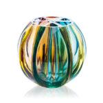 ボヘミアガラス モーゼル 花瓶 ボール