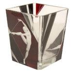 ボヘミアガラス カール・パルダ アールデコ 花瓶 踊る女性