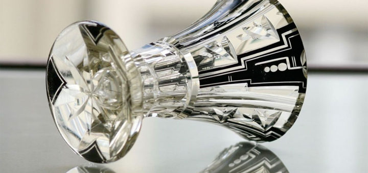ボヘミアガラス カール・パルダ アールデコ 花瓶 ( Bohemian Glass Karl Palda Art Deco Vase )
