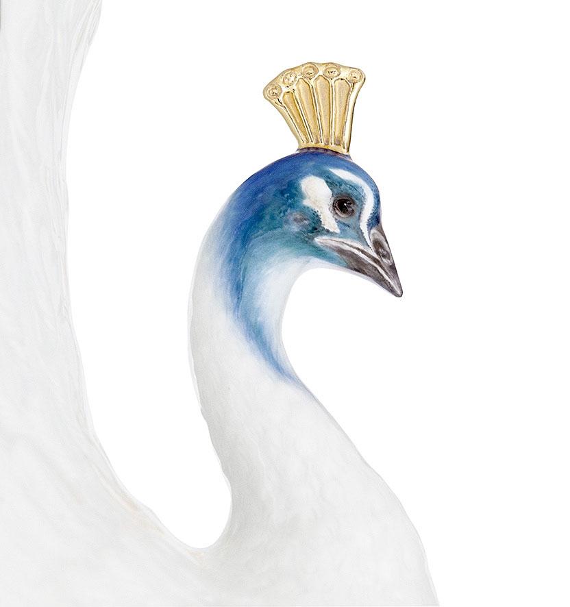 """マイセン 花瓶「孔雀」 ( MEISSEN® Vase """"Peacock"""" )"""
