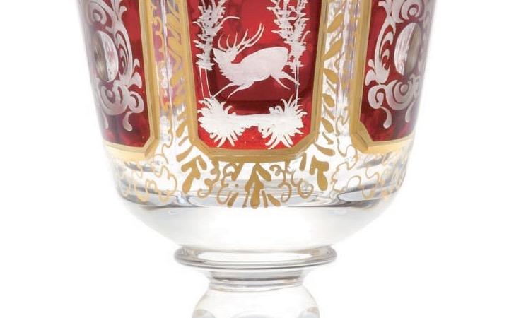 ボヘミアガラス エーゲルマン リッチエングレーヴィング ワイングラス ( Bohemian Glass Egermann RichEngraving Wineglass )