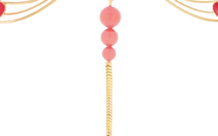 ラリック ブローチ リベリュール アンバー&ゴールド ( Lalique Libellule Brooch, Ambre and Gold Vermeil )
