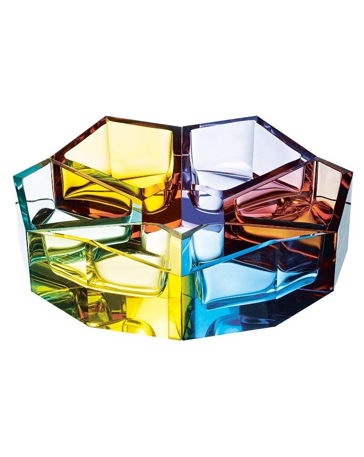 ボヘミアガラス モーゼル ボウル 「ボール」 ( Bohemian Glass Moser Ball Hand Cut Bowl )
