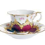マイセン 金彩小花 パープルゴールド コーヒーカップ&ソーサー ( Meissen Gold Flower Cup And Saucer )