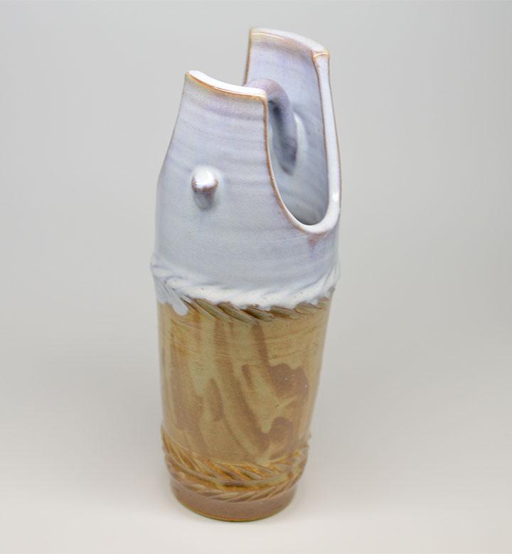 萩焼 玉村信一 花瓶 桶