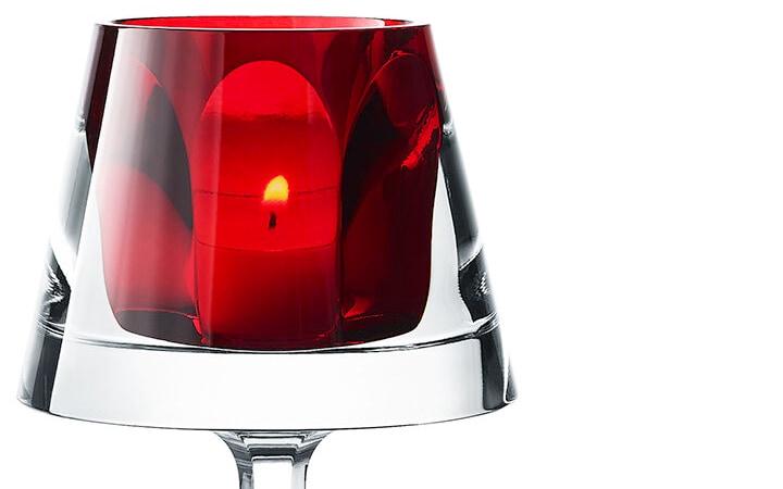 バカラ キャンドルスタンド マイファイヤー レッド ( Baccarat Harcourt My Fire Candlestick Red )