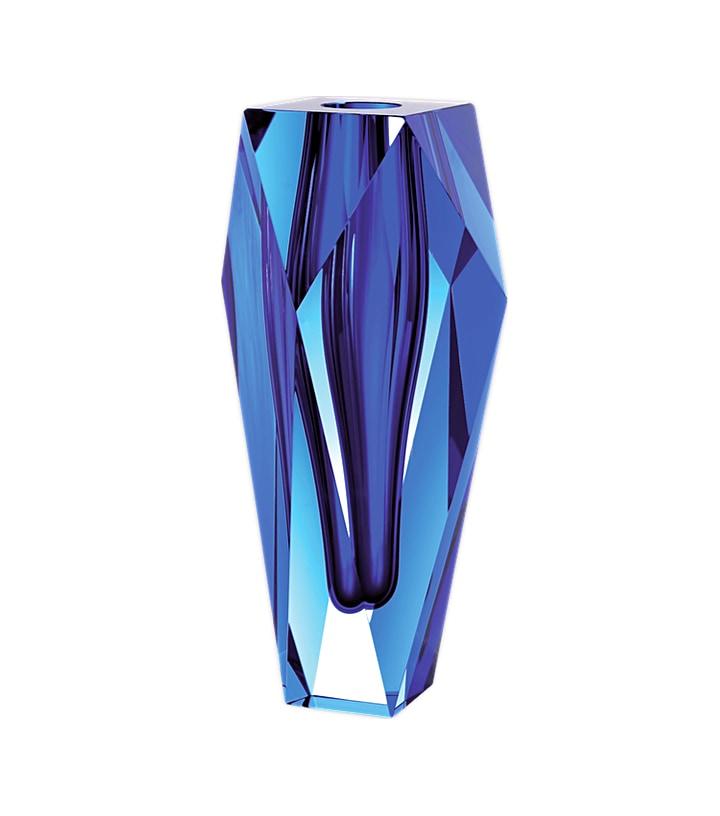 ボヘミアガラス モーゼル 花瓶 ゲマ ( Bohemian Glass Moser Gema Hand Cut Underlay Vase )