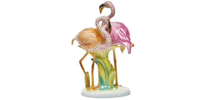 ヘレンド スペシャル・コレクション フィギュリン フラミンゴ デュエット ( Herend Special Collections Figurine Flamingo Duet )